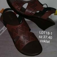 sepatu sandal wedges fladeo ldt181ra hitam ukuran 36 dan 39