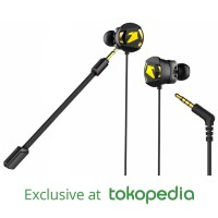 Earphone Gaming Armaggeddon WASP-5 Dual Microphone - Garansi 1 Tahun