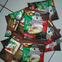 Top coffee cappuccino with crunchy choco malt
