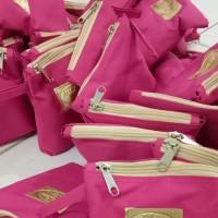Dompet Tas Kosmetik Murah Tabita Skincare Pink Pouch