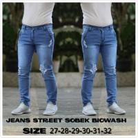 Celana skiny jeans robek sobek premium 27-32