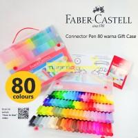 Connector Pen 80 Warna Faber Castell Gift Case