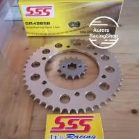 Gear Set SSS Vixion R VVA & Rantai SSS 428 SB Gold