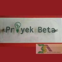 Logo perusahaan wall signage acrylic cutting sticker akrilik B12wa1449