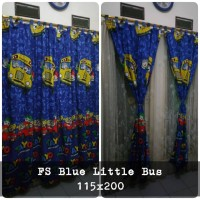 korden homemade karakter anak / horden homemade motif Blue Little Bus