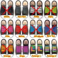Tali Sepatu isi 12 Karet Silikon Silicone Shoelaces Panah