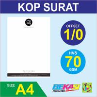 Cetak Kop Surat 1 Warna - HVS 70 gram