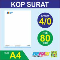 Cetak Kop Surat Full Color Sparasi - HVS 80 gram A4 / F4