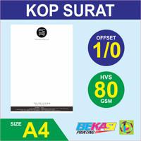 Cetak Kop Surat 1 Warna - HVS 80 gram A4 / F4