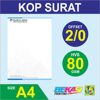 Cetak Kop Surat 2 Warna - HVS 80 gram A4 / F4