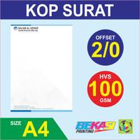 Cetak Kop Surat 2 Warna - HVS 100 Gram