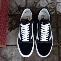 Sepatu Vans Old Skool Og Black White Ivory Premium Bnib Hitam 44