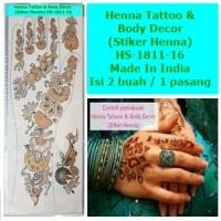 Henna Mehndi Temporary Tattoo-HS-1811-16-Fashion Sticker Body Art