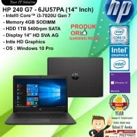 "HP 240 G7 - 6JU57PA (14"" Inch) Core i3-7020U/4GB/1TB/WIN10PRO/1YEAR"