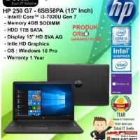 "HP 250 G7 - 6SB58PA (15"" Inch) Intel Core i3-7020U/4GB/1TB/W10PRO/1YR"