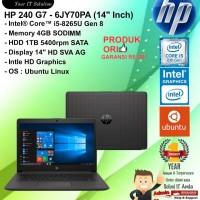 "HP 240 G7 - 6JY70PA (14"" Inch) Core i5-8265U/4GB/1TB/DOS/1YEAR"