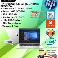 HP Probook 430 G6 - 6KB35PA Intel Core i5-8265U/4GB/1TB/DOS/1YR