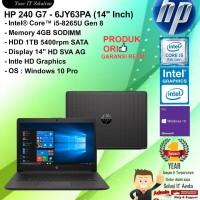 "HP 240 G7 - 6JY63PA (14"" Inch) Core i5-8265U/4GB/1TB/WIN10PRO/1YEAR"