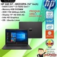 "HP 240 G7 - 6KD32PA (14"" Inch) Core i3-7020U/4GB/1TB/DOS/1YEAR"