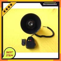 klakson / toa 3 suara sirine patwal / polisi dan mic aksesoris variasi