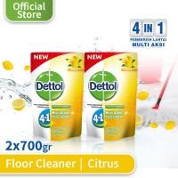 Dettol Pembersih Lantai Citrus - Pouch 700mL x 2 pcs - Wangi Citrus