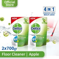 Dettol Pembersih Lantai Apple - Pouch 700mL x 2 pcs - Wangi Apple