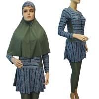 Baju Renang Muslim Syari Motif BRM-S293 - Biru, XL