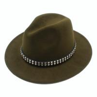 281fa0e9c0ee4 2017 New Women Men Wool Fedora Hat With Wide Brim Black Jazz