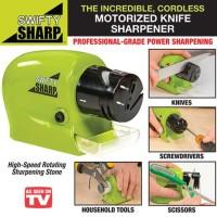 Swift Sharp Cordless Alat Pengasah Pisau Automatis Penajam elektrik