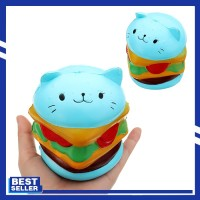 Burger Cat Squishy 10.5*9.5 CM Slow Rising Collection Gift Soft Fun
