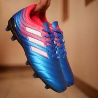 Sepatu Bola Adidas Copa New Biru-Merah list Putih Grade Ori
