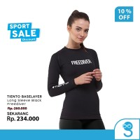 Tiento Baselayer Rashguard Manset Olahraga Wanita Long Sleeve Freedive
