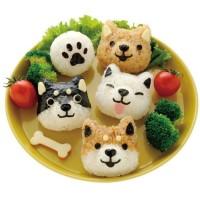 Cetakan Nasi Bento Bekal Anak Anjing Puppy Dog Doggy Husky Onigiri Set