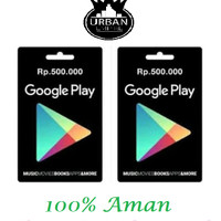 Jual Voucher Google Play Store Gift Card Rp. 500 Ribu(Only Indonesia)