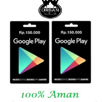 Jual Voucher Google Play Store Gift Card Rp. 150 Ribu(Only Indonesia)