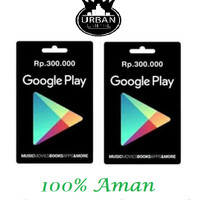Jual Voucher Google Play Store Gift Card Rp. 300 Ribu(Only Indonesia)