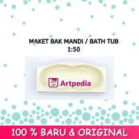 Maket Bak Mandi / Miniatur Bath Tub Skala - 1 : 50