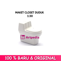 Maket Closet duduk Pendek skala 1 : 30 / Diorama / Miniatur Toilet