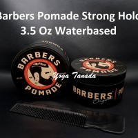 Barbers Pomade Strong Hold Waterbased 100 Gram (FREE SISIR SAKU)