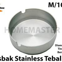 HomeMaster Asbak/Ashtray/Ash Tray Stainless Tebal 10 Cm M AT10