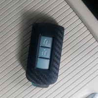 Cover sarung kunci silikon carbon mobil mitsubishi Pajero Sport