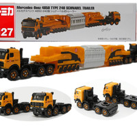Tomica Long 127 Mercedes Benz 4850 type 240 Schnabel Trailer