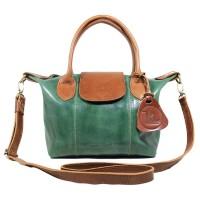 Handbag Kulit LC Donita Green Antik