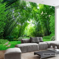 Wallpaper Custom 3D- Wallpaper Dinding Murah Bambu