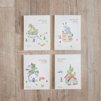 Pot Plant House Plain Notepad A6 / Buku Catatan - Varian B