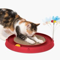Catit Play Circuit Ball With Scratch Pad