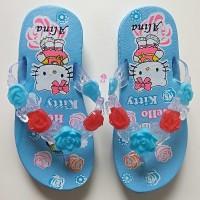 Sendal Karet Anak Perempuan Sandal Jepit Wanita Hello Kitty Cewek Cewe