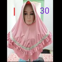 Kerudung Jilbab Instan LIST PLISKET Kode I 30