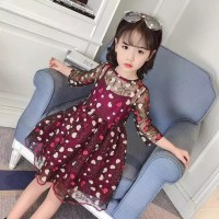 dress mia/gaun pesta anak/gaun lengan panjang anak/dress korea