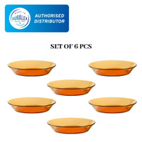 Duralex AMBER SOUP PLATE 19.5cm ( tempered glass ) - Set of 6